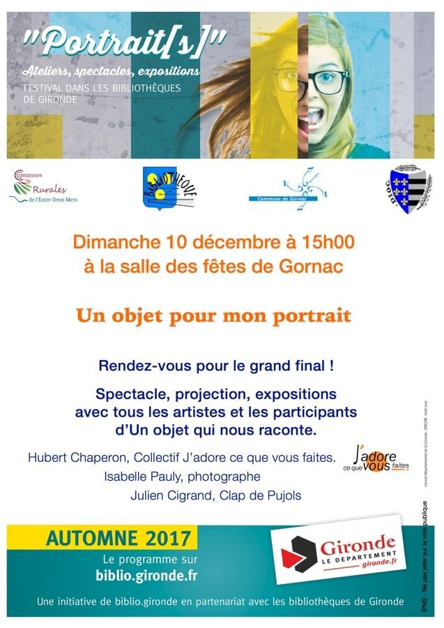 Portrait Spectacle dimanche 10 décembre à 15h00 à Gornac