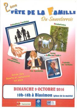 Blasimoncraft en Sauveterrois, Fête de la famille dimanche 9 octobre 2016