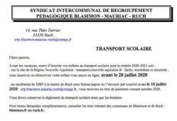 SIRP – Inscription au transport scolaire