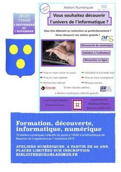 Atelier numérique séniors jeudi 7 novembre à 15h00 à la bibliothèque