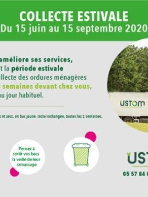 USTOM –  Un nouveau service de collecte des déchets pour l'été du 15 juin au 15 septembre