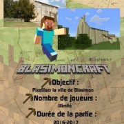 Pixelliser la ville de Blasimon avec Minecraft !