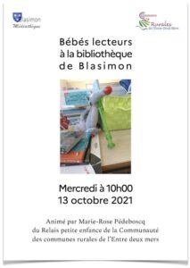 Read more about the article Bébé Lecteurs mercredi 13 octobre à la bibliothèque