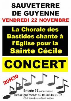 Chorale des bastides vendredi 22 novembre