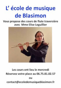 Read more about the article Cours de flûte traversière à l'école de musique de Blasimon