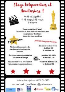 Read more about the article Stage holywoodiens et Aventuriers ! Du 19 au 23 juillet pour les jeunes de 11 à 17 ans