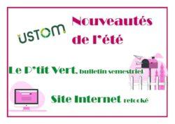 Les nouveaux outils de l'USTOM : Bulletin Semestriel et Site Internet débarquent cet été !