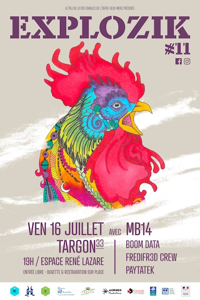 Festival Explozik vendredi 16 juillet Espace René Lazare à Targon